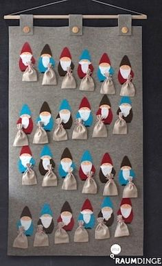 homemade advent calendar ideas sweet Christmas elf advent calendar to make