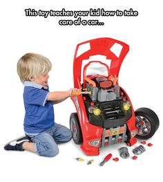 Car Engine Repair 'Toy' for Kids - I have to say that I wish this was around when I was a child. I would have absolutely loved this, not to mention how useful it would be now!