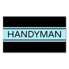 Handyman Stripe Business Card. This great business card design is available for customization. All text style, colors, sizes can be modified to fit your needs. Just click the image to learn more!