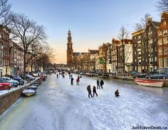 This is how Christmas in Amsterdam looks...