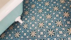 aisha cement tiles in turqise