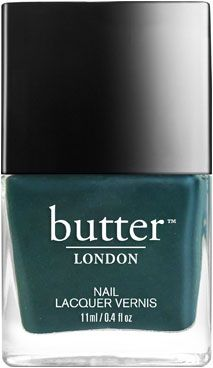 butter LONDON Stag Do Nail Lacquer | Deep, slate blue creme with a slight green shimmer.