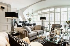 interiors, interior design, home decor, decorating ideas, living room inspiration, glam, modern luxury