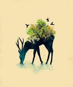 Watering (A Life Into Itself) Art Print by Budi Satria Kwan