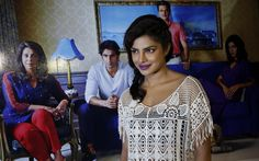 "Bollywood actress Priyanka Chopra poses for photos during a trailer launch for the upcoming movie ""Dil Dhadakne Do"" in Mumbai, India, Wednesday, April 15, 2015. The film is scheduled for release on June 5, 2015. (Photo by Rajanish Kakade/AP Photo)"