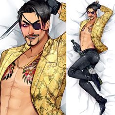 Majima goro dakimakura : Majima goro body pillow drawn by me Ashley Store, Pillow Drawing, My Spirit Animal, I Am Game, Deadpool, Video Games, Fandoms, Fan Art, Superhero