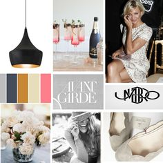 #moodboard for independent lingerie retailer via elleandgrace.net