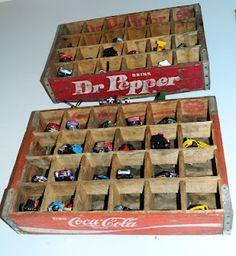 Hot Wheels in Coke/Dr Pepper Crates