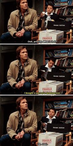 I feel like this would be Misha's real reaction.