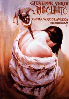 Rigoletto - Verdi, Polish Opera Poster: Polish Posters Shop