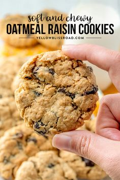 oatmeal cookies The Best Oatmeal Raisin Cookies just cant be beat. My Oatmeal Raisin Cookie recipe is just like grandma used to make, and so soft and chewy! via yellowblissroad Healthy Foods To Make, Good Healthy Recipes, Healthy Eating, Good Cookie Recipes, Healthy Meals, Muffin Recipes, Diet Recipes, Soft Oatmeal Raisin Cookies, Cookies Soft