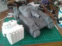 Warhammer 40k Emperor, Super Tank, Conversation, Tanks, Weapons, Miniatures, Fantasy, Ship, Figurine
