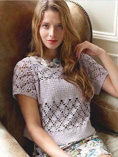 PR Liala top from Rowan to crochet