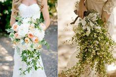 ramos de novia en cascada