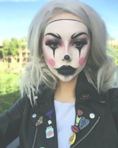 Griezelige Clown Halloween-make-up  #women #fashion #womensclothing #fashionclothes #lady #cocktaildresses #fashionwomen #clothes #womensdress #chiclady
