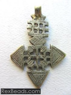Coptic Cross Pendant (57x38mm)
