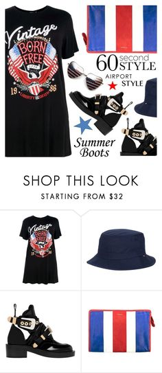 """""""Untitled #1952"""" by shoaleh-nia ❤ liked on Polyvore featuring Boohoo, Herschel Supply Co. and Balenciaga"""