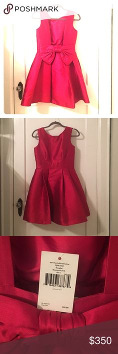 Kate Spade cocktail dress! Kate Spade cocktail dress with open back and big bow. Never been worn - still has the original tag on it! kate spade Dresses Mini