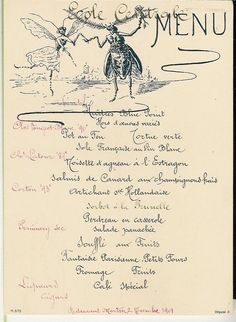 Menu. Ecole Centrale 1901 by | LibraryThing