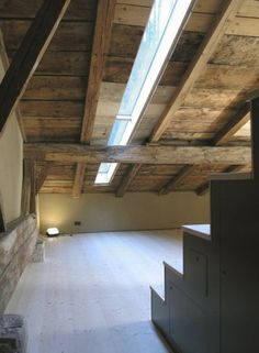 Go and visit our webpage for even more about this fantastic skylight loft Dormer Windows, Windows And Doors, Mansard Roof, Contemporary Barn, Interior Architecture, Interior Design, Wood Interiors, House Beds, Shed Plans
