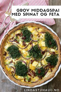 En grov middagspai med fetaost, spinat og tomater fra Linda Stuhaug - perfekt til hverdag og fest | Sunn middag | Hverdagsinspirasjon | Sunn pai | Sommeroppskrifter
