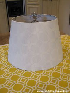 Simple Details: how to cover a tapered lamp shade...