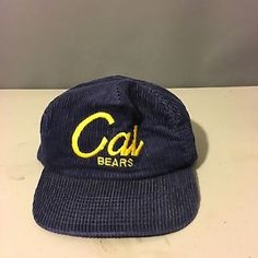 bddc493ce4239 RARE Vintage Cal Berkeley Bears Sports Specialties The Cord Corduroy Hat Cap