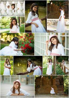 df1beeedacb7f Sesion de fotos de niña con el traje de primera comunion en el parque de El