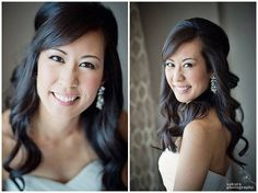 Beautiful bride Praise in the Elsa Corsi Tania Earring - photo Sakura photography