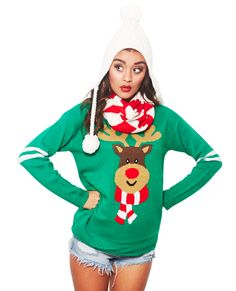 Rudolph Scarf Sweater Set | Wet Seal #rudolph #sweater