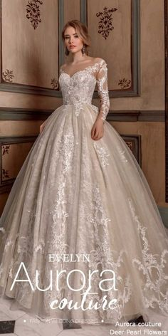270442323a0 Long sleeves ball gown wedding dress EVELYN