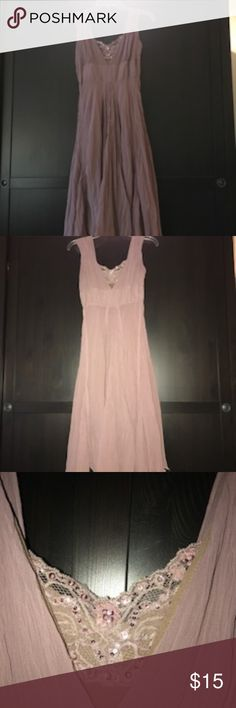 Beautiful sleeveless dress by Hazel - Size small This is a great dress. It is a dusty rose and fully lined.  It is a size small and has pretty lace and sequins in front.  There are no rips, tears or stains.   Please let me know if you have any questions.  Thank you. Hazel Dresses