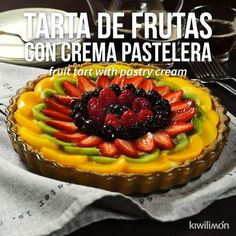 Video de Tarta de Frutas con Crema Pastelera - Health and wellness: What comes naturally Tart Recipes, Cheesecake Recipes, Sweet Recipes, Cookie Recipes, Dessert Recipes, Delicious Desserts, Yummy Food, Tasty, Fresh Fruit Tart