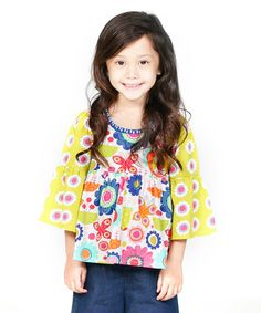 Look at this Yellow Floral Boho Top - Infant, Toddler & Girls on #zulily today!