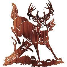 Jumping Buck Deer Metal Wall Art at Cabelas (living room) Metal Walls, Metal Wall Art, Wood Art, Deer Wall Art, Painting Shower, Sculpture Metal, Buck Deer, Wood Burning Patterns, Scroll Saw Patterns