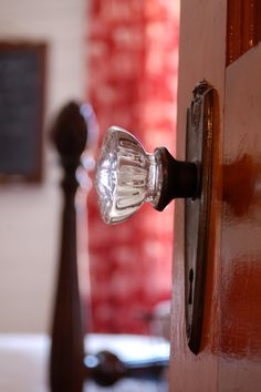 the glass knobs I grew up with