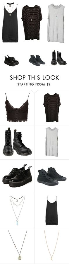 """""""summer dresses"""" by seven-moths ❤ liked on Polyvore featuring NLY Trend, Brandy Melville, Dr. Martens, Cheap Monday, Converse, Hot Topic and Solow"""