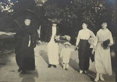French Vintage Photo - Four Women and a Toddler by ChicEtChoc on Etsy