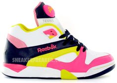 Reebok Pump Court Victory Neon. My baby would love these  ) Pump It Up e4c2faa4b0