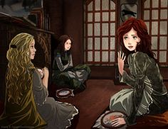 The Stark Girls and Princess Myrcella. Artist: Siana