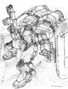 RIFTS NG Red Hawk Power Armor by ChuckWalton on DeviantArt