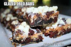 GLAZED OREO BARS!!!! - Nibbles By Nic