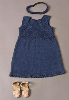 1410: Modell 12 Kjole og hårbånd #alpakka #strikk #knit Baby Sewing, Couture, Baby Love, Baby Knitting, Dress Skirt, Knit Crochet, Crochet Patterns, Two Piece Skirt Set, Cotton