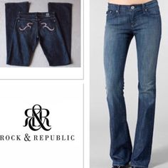NWT ROCK AND REPUBLIC HEARTBREAKER JEANS $238 The heartbreaker jeans in Medium wash, trimmed with pink stitching.. NWT Slightly flared leg Rock & Republic Jeans Flare & Wide Leg