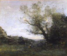 Souvenir d'Italie. La Cueillette by Jean-Baptiste-Camille Corot