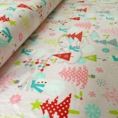 Riley Blake - Cotton Knit - Christmas Fun - Pink