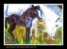 camarogue and colt by laurel sobol framed
