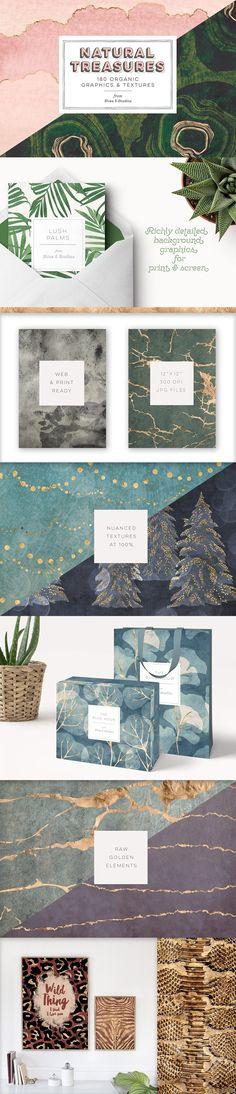 Natural Treasures: 180 Organics by Blixa 6 Studios on @creativemarket