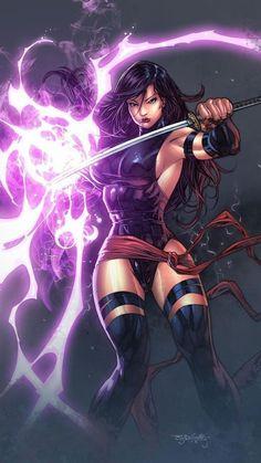 Psylocke of The X-Men and The Marvel Comic Universe. Marvel Dc Comics, Anime Comics, Marvel Art, Marvel Heroes, Marvel Avengers, Comic Book Characters, Marvel Characters, Comic Character, Comic Books Art