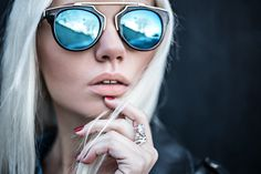 Fashion Secrets with Oksana:  Intricately Designed Retro Horned Rim Mirrored Lens Sunglasses 9754